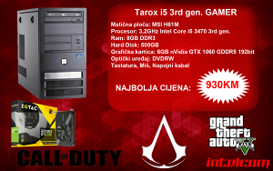 GAMING RAČUNAR Tarox Core i5 3rd gen. GTX 1060