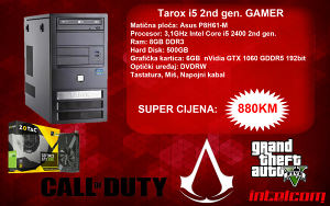 GAMING RAČUNAR Tarox Core i5 2nd gen. GTX 1060