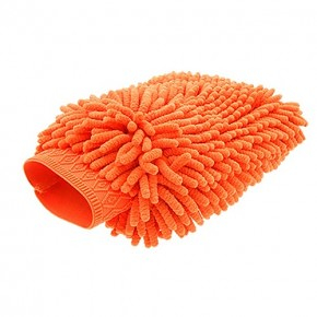 Monster Shine - Orange Chenille Wash Mitt
