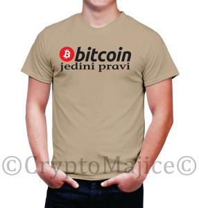 Bitcoin majica JEDINI PRAVI BTC