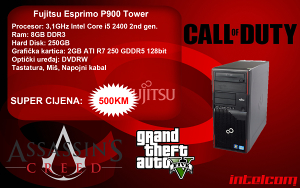 Fujitsu P900 Core i5 2400 2nd gen. R7 250