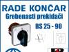 GREBENASTI PREKIDAČ/PREKIDAČI BS 25-90
