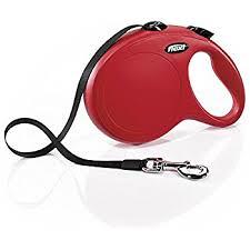 Flexi CLASSIC povodac za pse max.50kg, traka, 5m crveni