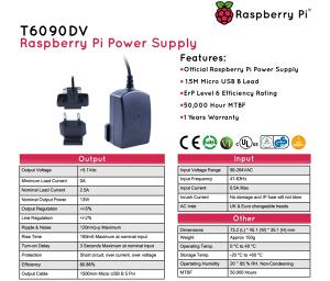 Raspberry Pi Adapter 13W 5V 2.5A