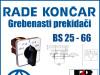 GREBENASTI PREKIDAČ/PREKIDAČI BS 25 66