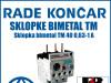 Zaštitna sklopka/sklopke bimetal TM 40 0,63-1 A