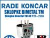 Zaštitna sklopka/sklopke bimetal TM 40 1.25 - 2.0 A