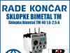 Zaštitna sklopka Bimetal TM 40 1,6-2,5 A
