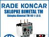 Zaštitna sklopka/sklopke Bimetal TM 40 1-1,6 A