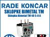 Zaštitna sklopka/sklopke Bimetal TM 40 5-8 A