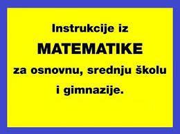 Instrukcije, časovi iz MATEMATIKE, B. Luka (centar)