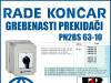 GREBENASTI PREKIDAČ/PREKIDAČI PN2BS 63-10