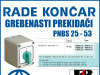 GREBENASTI PREKIDAČ/PREKIDAČI PNBS 25 - 53