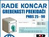 GREBENASTI PREKIDAČ/PREKIDAČI PNBS 25 - 90
