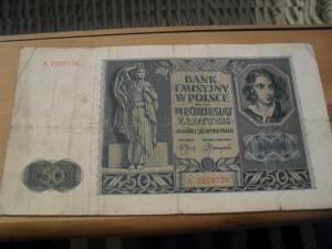 Poljska 50 zlotych 1941