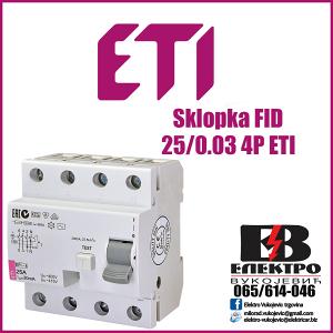 Sklopka FID 25/0.03 4P ETI
