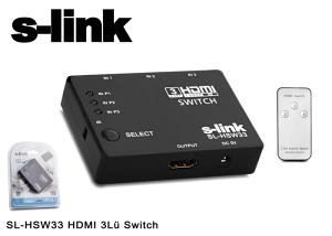 S-Link SL-HSW33 HDMI 3 sa daljinskim upravljačem Swich