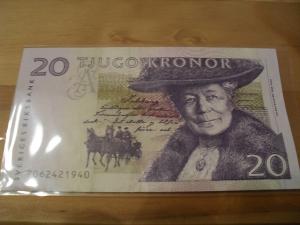 Švedska 20 kruna 1997