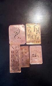 Stari bakarni sabloni za slova i brojeve 13 kom