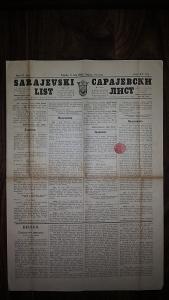 Sarajevski list 1892