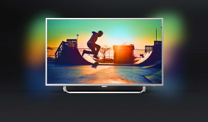 "Philips 4K 49"" UltraHD TV 49PUS6412 Android AMBILIGHT"