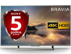 """Sony 4K 43"""" UltraHD 43XE7077 WiFi Smart TV XE7077"""