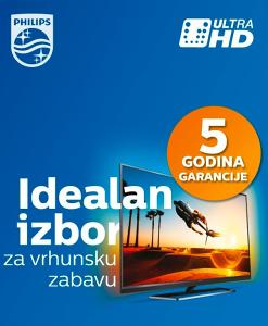 AKCIJA >>> Philips 4K UltraHD TV već od 859 KM (UHD)