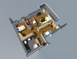 Stan u Lukavcu,SPO AAM2-STAN 8a (69,08 m2)