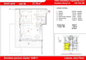 Stan u Lukavcu,SPO AAM2-STAN 9b (57,79 m2)