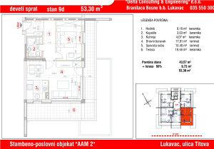 Stan u Lukavcu,SPO AAM2-STAN 9d (53,30 m2)