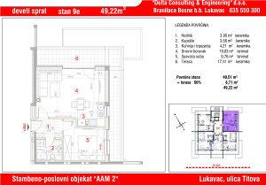 Stan u Lukavcu ,SPO AAM2-STAN 9e (49,22 m2)