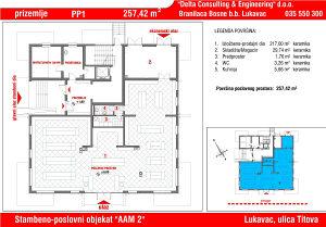 Poslovni prostoru u Lukavcu,SPO AAM2