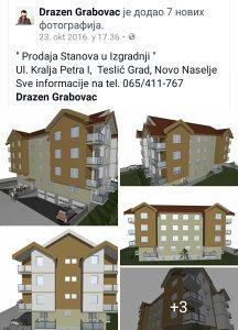 Stan Teslić,nova gradnja