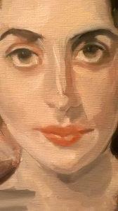 Slikanje portreta umjetničkih ulje na platnu