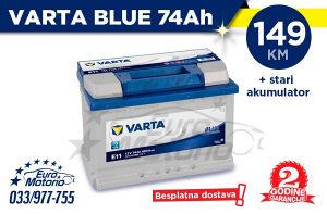 Varta Blue 74Ah - 149 KM # BESPLATNA DOSTAVA!