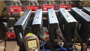 MINING MAJNING RIG 6x Sapphire Rx 580 4GB ~165-175Mh/s