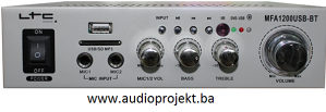 POJAČALO STEREO 2 X 50W,USB-SD i BT MFA1200USB-BT-SI