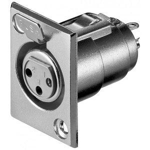 Audio konektor PROF006 Ženski Ugradni 3-POL W11221