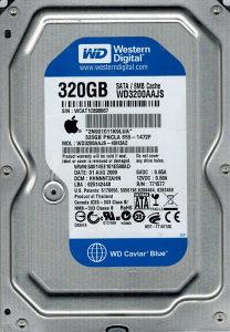 """HDD SATA 320GB 3.5"""" WESTERN DIGITAL 320 GB HARD DISK"""