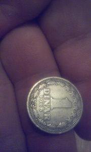 Stari 1 dinar iz SFRJ 1965 GODINA