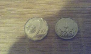 Dvije Češke kovanice