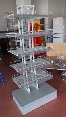 Prodajni stalak h 160 70x45