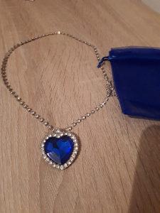 Ogrlica Srce Okeana iz filma Titanik Plavi Swarovski