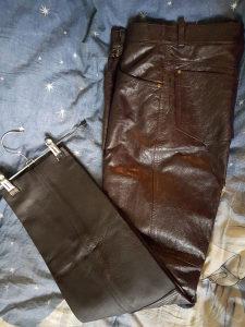 Ženske markirane kožne pantalone POLLINI