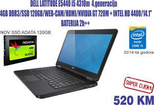 LAPTOP DELL i5 4300-Nvidia GT720m-NOV SSD