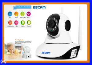 WiFi LAN IP Camera Escam 720p MicroSD Night vision