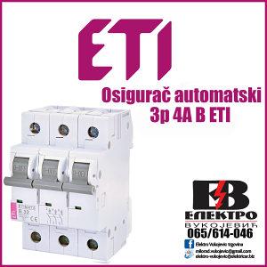 Osigurač/Osigurači automatski 3p 4A B ETI