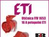 Utičnica/Utičnice FIV 1653-16 A petopolni ETI