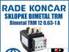 Zaštitna sklopka/sklopke bimetal TRM 12 0.63-1 A