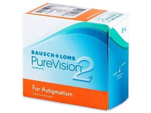 PureVision 2 leće za astigmatizam (6 komada sociva)